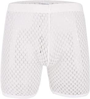 YOOBNG Mens Hollow Openwork Lounge Underwear Boxer Briefs Causal Beach Shorts Lightweight Slim Fit Summer Pants