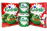 Pillsbury Funfetti Christmas Holiday Cupcake Mix Bundle with Funfetti Cake Mix (2 boxes) and...