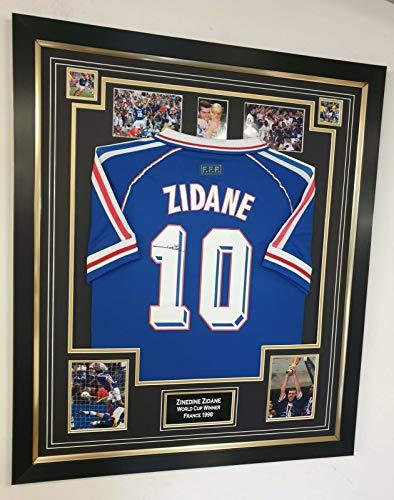 www.signedmemorabiliashop.co.uk Autogramm-Trikot Seltene Zinkedine Zidane von Frankreich, WM 98