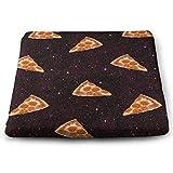 NGZXPMYY Anti-Rutsch-Memory-Foam-Stuhlkissen Pizza Galaxy-Sitzkissen, Kissen mit waschbarem...
