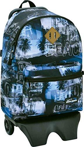 Santa Monica Aloha Teen Carro Desmontable, Color Azul
