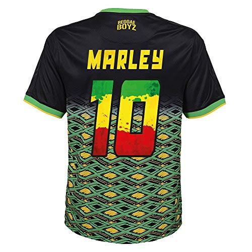 Jamaika Away Trikot 2018 2019 + Marley 10 (Reggae Style Beflockung) - M