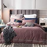 yaonuli Einfache einzelne doppelte Bettbezug Trampolin einfache Baumwolle vierteilige rote Birke...