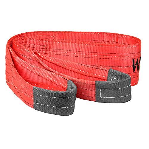 NeoMcc Gewebeschlaufen Sling Straps WLL 5 Tonne Rot Hubing Sling Branche Duplex Polyester Gurtband Heben Frachtschlingrippe Strop 2-10mtr Heben Sie Schlinge Gurte (Color : Red, Size : 2m)
