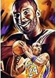 XTTGGD Famoso jugador de baloncesto Kit Diamond Painting The Black Mamba Big Gem Art MVP Full Canvas W Art Lakers Championship for