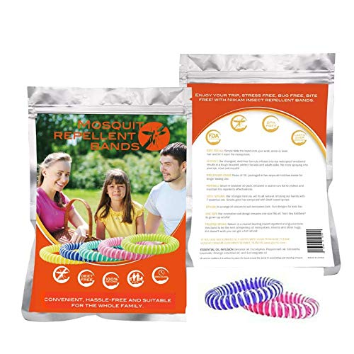 Other Mosquito Repellent Bracelet by HEALING_SOULS, 10 insect repellent mosquito bands, Double Strength, Double Coil insect repellent, 2020 3rd Generation, up to 300 hours of protection.