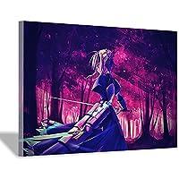 バイオレットエバーガーデンアニメキャラクターキャンバス絵画アートポスター子供部屋の装飾リビングルームの寝室の装飾ホームオフィスの装飾30x45cm(12x18inch)内枠ポスター5