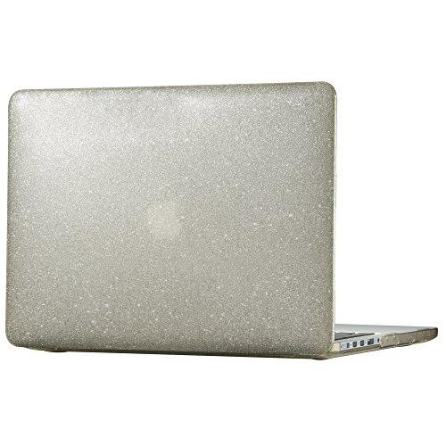 Macbook Pro Retina 13IN Smartshell Clear Wth Gold Glitter (Oct 12-Mar 15 models)