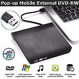QueenDer Masterizzatore Lettore Dvd CD Esterno USB 3.0 Drive CD-RW Dispositivo Lettore Sch...