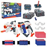 NBPOWER 2 Pack Toy Guns & Scoring Target Gifts for Kids, 60 Foam Darts, 2 Dart Wristband, and 2 Goggles,Blasters and Targets Shooting Toy for Boys and Grils