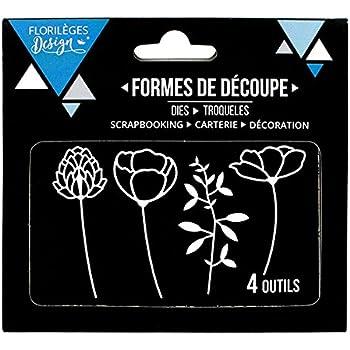 8,5 x 10,5 cm Floril/èges Design Herramientas de corte color metal