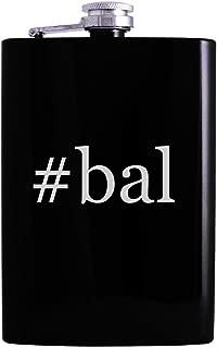 #bal - 8oz Hashtag Hip Alcohol Drinking Flask, Black