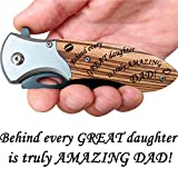 Dad Gifts from Daughter - Engraved Pocket Knife for Amazing Dad - Great Fathers Day Gift, Birthday Gifts for...