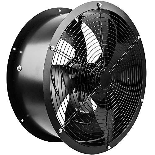 PrimeMatik - Extractor de Aire de Tubo de 600 mm para ventilación Industrial 1350 RPM Redondo 670x670x280 mm