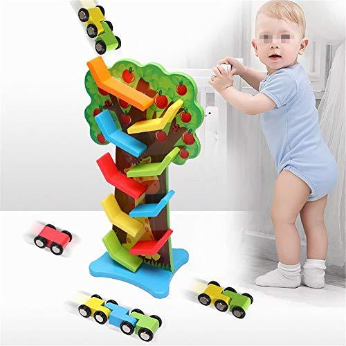 Kinder Bausteine  Holzrampe Rennstrecke Auto Ramp-Satz for 3 Jahre alten Jungen Spielzeug-Auto Kinder Spur Spielzeug Lernspielzeug Lernspielzeug ( Farbe : Multi-colored , Size : Free size )