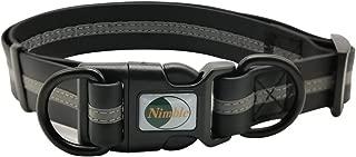NIMBLE Dog Collar Waterproof Pet Collars Anti-Odor Durable Adjustable PVC & Polyester Soft with Reflective Cloth Stripe Basic Dog Collars S/M/L Sizes