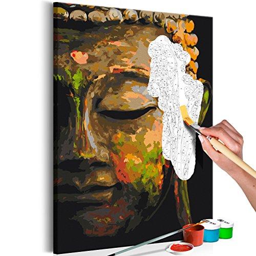 murando - Malen nach Zahlen Buddha 40x60 cm Malset mit Holzrahmen auf Leinwand für Erwachsene Kinder Gemälde Handgemalt Kit DIY Geschenk Dekoration n-A-0568-d-a