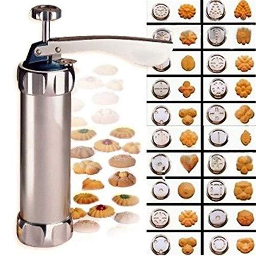Molde de galletas caliente manual de prensa de galletas, juego de herramientas para hornear 24 en 1 con 4 boquillas 20 moldes de galletas para hacer galletas