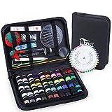 Uten Kit de Costura de viaje profesional con 130 accesorios de costura, 40 bobinas, bolsa de transporte para principiantes, niños, entusiastas del bricolaje