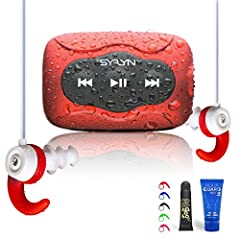 Purchase includes: Swimbuds Color headphones and SYRYN waterproof MP3 player (with complimentary FitGoo earbud insertion helper and 1 oz AquaGuard Pre-Swim Hair Defense). Listen without interruption: Swimbuds Color hassle-free, extra-short cord doesn...
