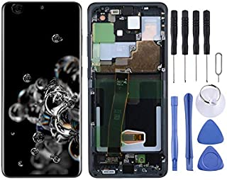 SHUHAN Mobile Phone Replacement Part new LCD Screen and Digitizer Full Assembly with Frame for Samsung Galaxy S20 Ultra Di...