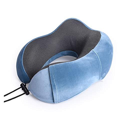 FENGFENG Sun Can Coche en Forma de Memoria Cuello de Espuma de Espuma Soft Slow Rebound Espacio Viajes Almohada Sólido Cuello Cervical Salud de la Salud Ropa de Cama Dropshipping (Color : Light Blue)
