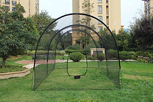 Kapler Batting Cage Baseball Softball, Batting Cage Backyard Training Net for Baseball Softball, with Steel Frame and Net, Great Softball Baseball Training Cage Equipment 22' (L) X12' (D) X10' (H)