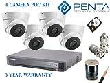 Hikvision include - 5mp cctv 4x poc camera kit - 1x poc DVR - 1x 2tb HDD - 1x 100m Rg6 cavo - 8x BNC a vite Semplice e facile installazione senza alimentazione aggiuntiva per le telecamere