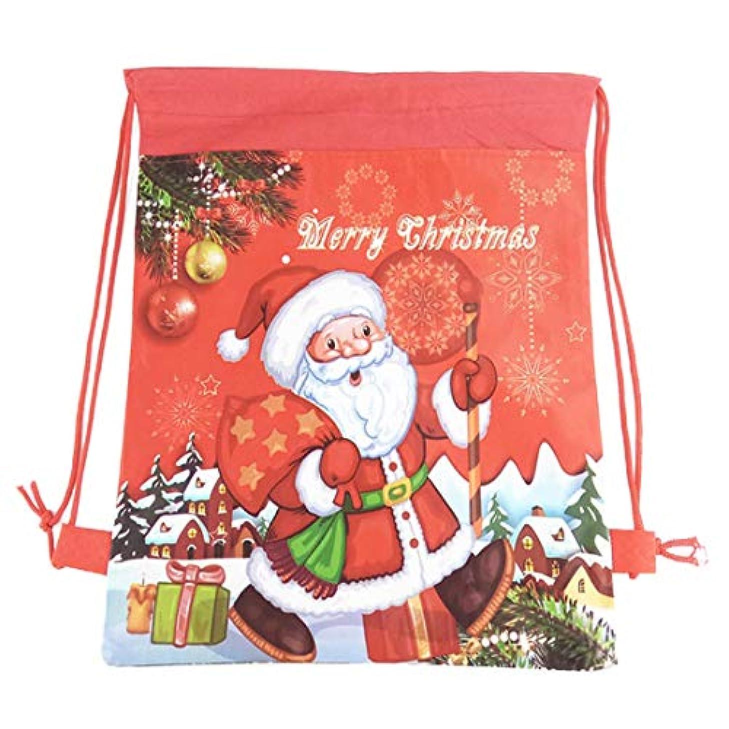 Christmas Candy Bags Drawstring Reusable Tote Gift Bag Sack Santa Claus Handbag Xmas Tree Decoration Party Favors