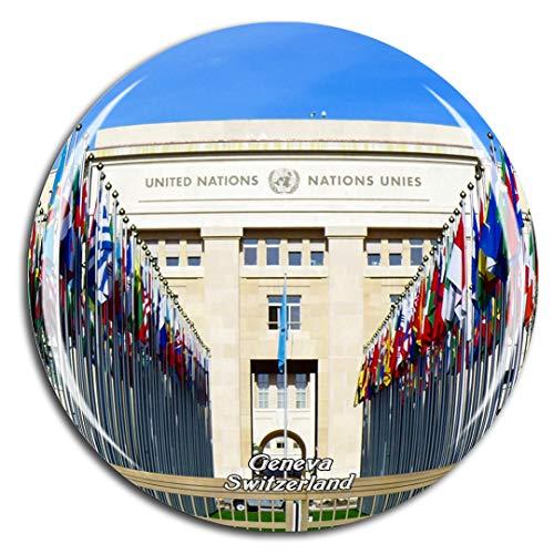 Weekino Svizzera Palazzo delle Nazioni Ginevra Calamità da frigo 3D Cristallo Bicchiere Tourist City Viaggio Souvenir Collezione Regalo Forte Frigorifero Sticker