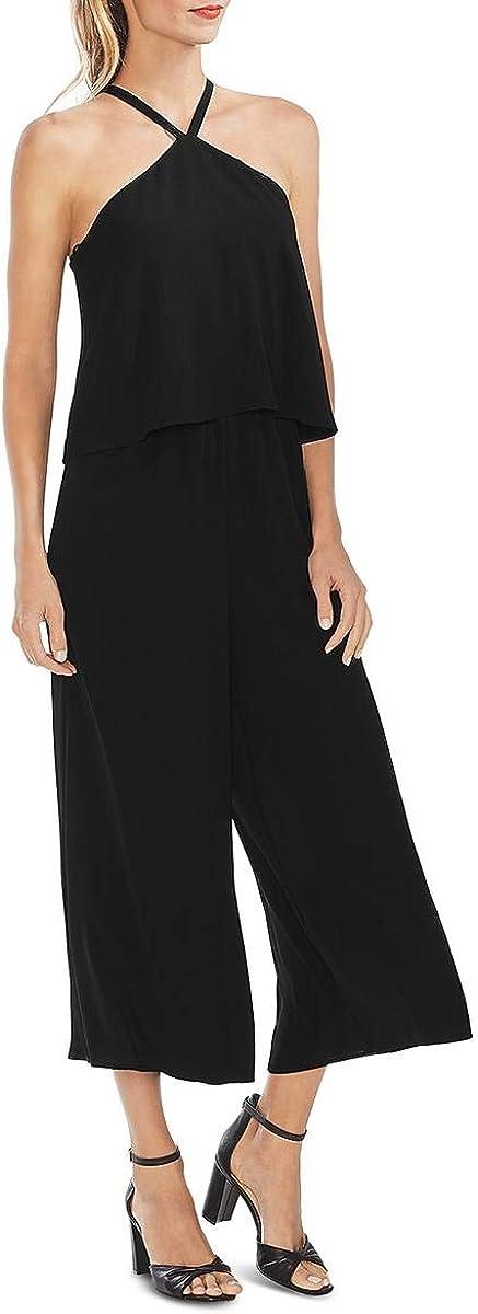 Vince Camuto Womens Factory outlet Choice Jumpsuit Halter Wide-Leg
