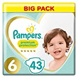 Pampers - Premium Protection - Couches Taille 6 (15+ kg/XL) - Pack Value+ (x43 couches)
