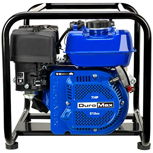 DuroMax XP702HP 212cc 7-HP 2-Inch 70-GPM Gas Powered High Pressure Water Pump, 50 State Approved, XP702HP, Blue
