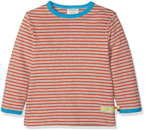 loud + proud loud + proud Kinder-Unisex Shirt Ringel Sweatshirt, Grau (Grey Gr), 68