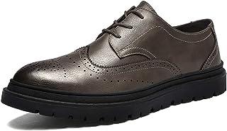 MUMUWU メンズ シューズ ビジネス 滑り止め 革 シンプル 紳士靴 フォーマルシューズ ビジネスシューズ