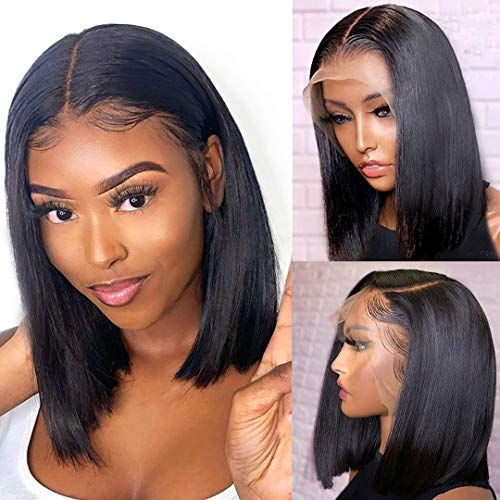 ALI GRACE Short Bob Wigs 13x4 Lace Front Human Hair Wigs Pre Plucked...