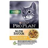 Purina ProPlan Aliment pour Chats stérilisés en Sauce Chat Adulte Poulet 24 x 85 g