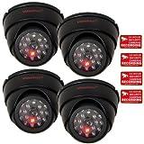 VideoSecu 4 Pack Dome Dummy Fake Infrared IR CCTV Surveillance Security Cameras Imitation ...