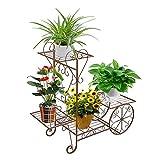 ZZBIQS Carro de jardín con soporte para plantas, soporte para plantas, soporte...
