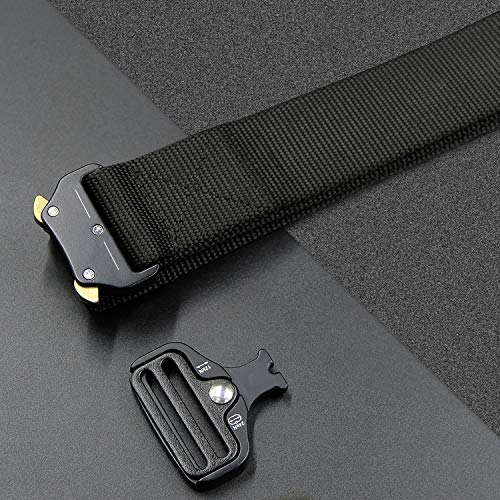 IDEATECH Tactical Belt,1.5 Inch No Holes Quick Release Heavy Duty Tactical Belt for Men and Women