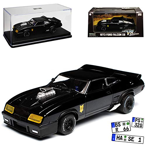 Greenlight Ford XB Falcon Tuned Version Mad Max II 2 Black Interceptor Schwarz 1973 1/43 Modell Auto