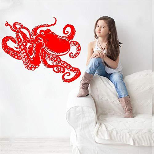 Ajcwhml Wandaufkleber Octopus S Horn tintenfisch tintenfisch tintenfisch wandaufkleber Dekoration Schlafzimmer Wohnzimmer Kinder 35X42 cm
