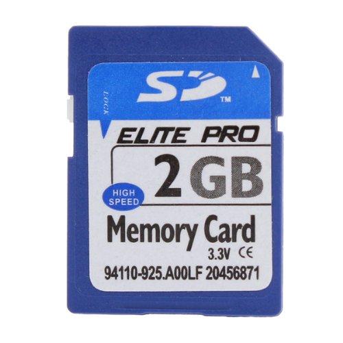 ELITE tarjeta SD PRO Tarjeta de memoria 2GB para MP4 Cámara PC GPS ETC