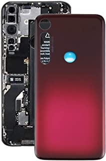 Mobile Phones Communication Accessories Battery Back Cover for Motorola Moto G8 Plus (Color : Red)