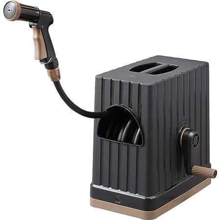 アイリスオーヤマ ホース リール FHEXN-20 ブラック 水やり 洗車 掃除 巻き取りやすい
