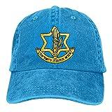 Ahdyr Gorras de Vaquero Gorra de béisbol Ajustable Unisex para papá Israel Defense Force 3-Royalblue