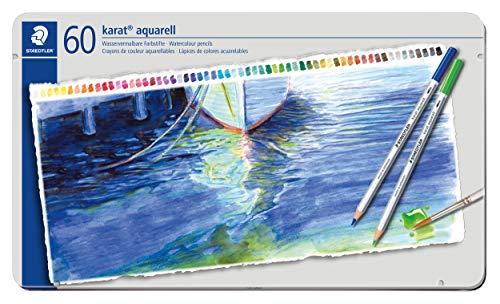 Staedtler Aquarell Farbstift, wasservermalbar, 60 Stück Etui