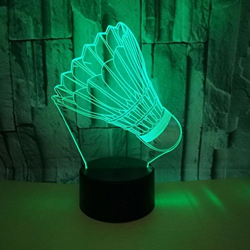 Jinson well 3D badminton Nachtlicht Lampe optische Nacht licht Illusion 7 Farbwechsel Touch Switch Tisch Schreibtisch Dekoration Lampen mit Acryl Flat Base USB Spielzeug