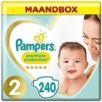 Pampers Premium Protection - Pañales talla 2 (4-8 kg) - Paquete de 1 mes (x240 pañales)