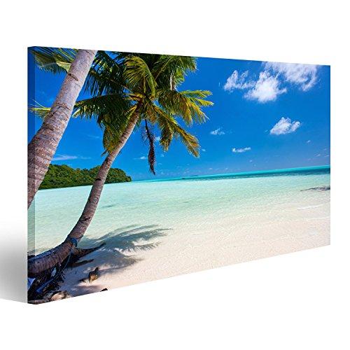 islandburner Cuadro Cuadros Hermosa Playa Tropical con Palmeras, Arena Blanca, Agua Turquesa y Cielo Azul Cerca de Palau. Genial y Muy Bonito FZA